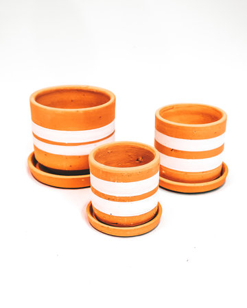 White lines pot set X3