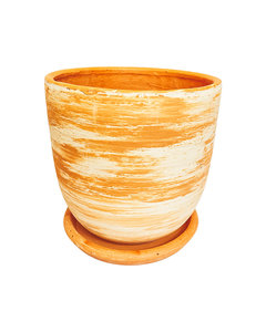 MIXED CLAY HIGH CURVED POT N3 - D26 H26